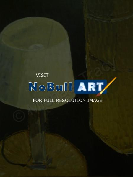 Modern Paintings - Lamp Painting - Acrylic Paint