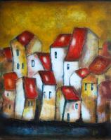 Houses - Distant Warmth - Acrylic