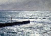 2009 - Squally Showers At Porthleven - Oils