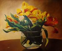 Flowers - Tulips - Oil On Canvas