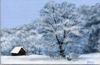 A White Winter Wonderland - Acrylic Paintings - By Diane Deason, Realistic Painting Artist