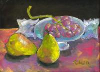 Still Life - Still Life With Pears And Grapes - Pastels
