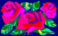 Add New Collection - Night Roses - Oil And Canvas