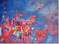 Anna Zygmunt Art - Evening Meadow June 2013 Oil Canvas - Oil On Canvas