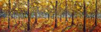Wwwrybakowcom - Pre-Painting Autumn Park 214 Oil On Canvas 24X70Cm 2010 - Oil On Canvas