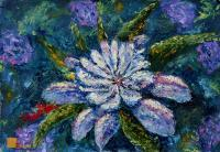 Wwwrybakowcom - Flower Oil Painting Glade Mysterious Flowers 2 - Oil On Canvas