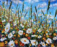 Wwwrybakowcom - Flower Painting Glade Summer Flowers - Oil On Canvas