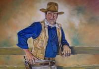 The Duke - Oil On Canvas Board Paintings - By Edward Martin, Portrait Painting Artist