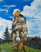 How The West Was Won - Oil On Canvas Board Paintings - By Edward Martin, Portrait Painting Artist