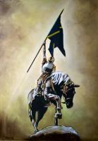 Victory Hornshole 1514 - Oil On Hardboard Paintings - By Edward Martin, Figurative Painting Artist
