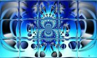 Blue Balance Inversion - Print On Canvas Digital - By Lee Glover, Collage Digital Artist