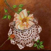 Birds And Floral - Roses And Lace - Oils
