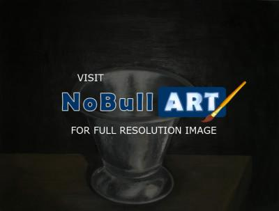 Oil Paintings - Cup On Table - Oil On Panel