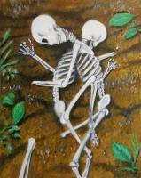 Oil Paintings - Even In Death - Oil On Panel