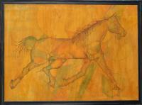 Cavallo - Pyrography On Wood Woodwork - By Virginia -, Abstract Woodwork Artist