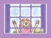 Frosty Paws - Colored Pencil  Ink Drawings - By Martin Bucknarish, Humor Drawing Artist