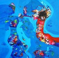 Painting - Desirous Joy - Acrylic On Canvas Rolled