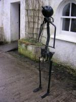 Standing Figure - Found Objects Sculptures - By Noel Molloy, Semi Abstract Sculpture Artist