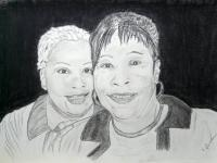 People - Donna And Annie Ruth - Charcoalgraphite