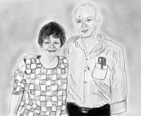 People - Uncle John And Mom - Charcoal And Graphite