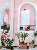 Miscellaneous - Tropical Home - Watercolor