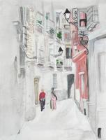 Miscellaneous - Narrow Street - Watercolor