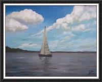 Boat - Acrylics Paintings - By Joe Labianca, Impressionism Painting Artist