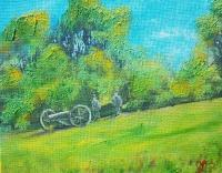 Cannon - Acrylics Paintings - By Joe Labianca, Impressionism Painting Artist
