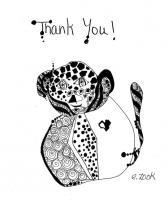 Ink Drawings - Thank You - Pen And Ink