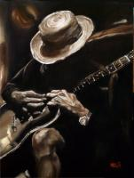 Delta Blues - Oil On Canvas Paintings - By Em Kotoul, Realism Painting Artist