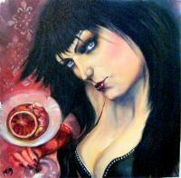 Oils - Ruby Red Sangria - Oil On Canvas