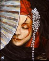 Mother Of Pearl - Oil On Canvas Paintings - By Em Kotoul, Realism Painting Artist