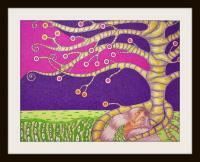 Northern - Do You Dream In Purple - Colored Pencil And Ink Marker