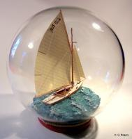 Ships In Bottles - Ship In Bottle - Phoebus II - Bottle Putty Wood Paint Paper