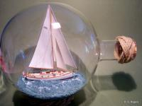 Ships In Bottles - Ship In Bottle - Anne Caie - Wood Thread Paper Paint Etc