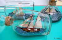 Ships In Bottles - Ship In Bottle - Pride Of Baltimore - Wood Thread Paper Paint Etc