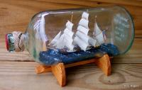 Ships In Bottles - Ship In Bottle - Charles W Morgan - Wood Thread Paper Paint Etc