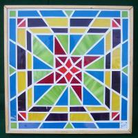 Glass Mosaic Wall Hanging - Radial Geometry - Glass