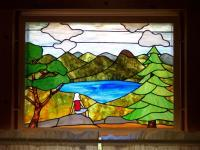Stained Glass - The View Over The Lake - Glass