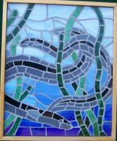 Glass Mosaic Wall Hanging - Eels - Glass