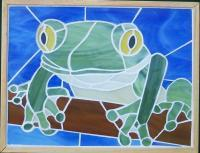Glass Mosaic Wall Hanging - Tree Frog - Glass