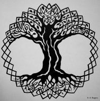 Silhouette Papercut - Celtic Tree Of Life - Paper