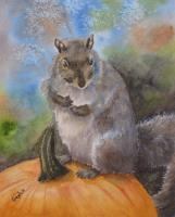 Animals - Pumpkin Sitter - Watercolor