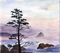 Seascape - Lone Sentinel - Watercolor
