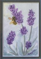 Floral - Lavender Bzzz - Watercolor