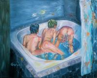 Figurative - In Mommas Tub - Oil