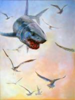 Marine Illustration - Airborne Mako - Acrylic On Board