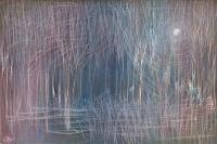 2009 Work - Woodland In Moonlight - Acrylic Artist Paints