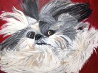 Animal Expressions - One Swanky Dog - Acrylic