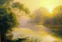 Morning Landscape - Oil On Canvas Paintings - By Jan Bartkevics, Landscape Painting Artist